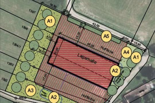 Eingriffsregelung Neubau landwirtschaftliche Lagerhalle
